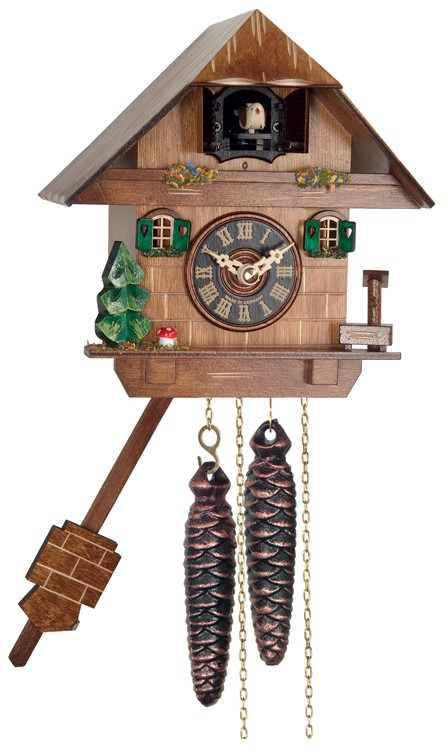 "(6"")Chalet with Tree & Pump"