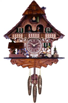 "(13"") Cottage with beer drinker"