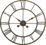"(30"") Oxidized Metal Tower clock L28-30"
