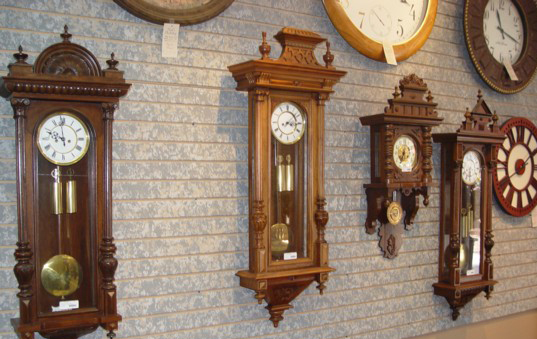 Antique Clocks at Keil's Clock Shop in Belleville, Illinois
