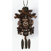"(21"") Traditional Hunter's clock w/ dance platform"