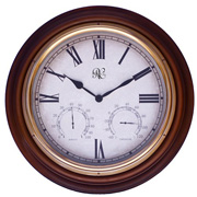 "(18"") Indoor/Outdoor resin clock with instruments"